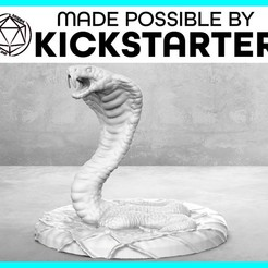 Imprimir en 3D gratis Serpiente - Pose de acción - Miniatura de mesa, M3DM
