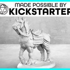 Imprimir en 3D gratis Caballo de guerra - Pose casual - Miniatura de mesa, M3DM