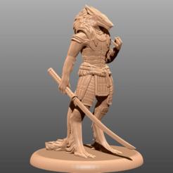 Descargar Modelos 3D para imprimir gratis Wolf Samurai - Miniatura de mesa, M3DM