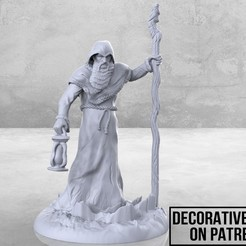 Descargar archivo 3D gratis Old Sage - Tabletop Miniatura, M3DM