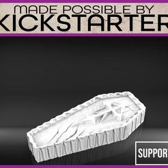 Download free 3D printing templates Coffin - Tabletop Scatter Terrain, M3DM