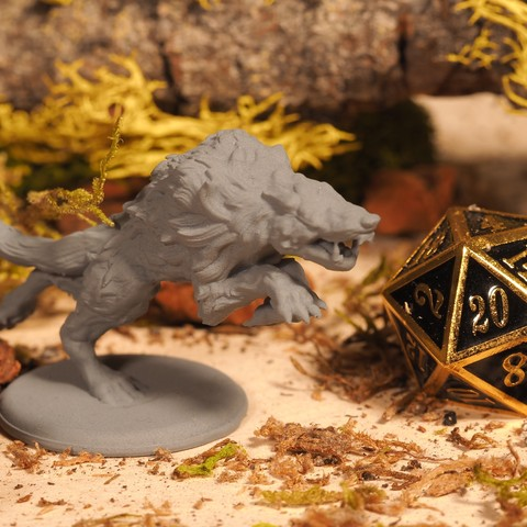 Download free 3D printing models Wolf - Tabletop Miniature, M3DM