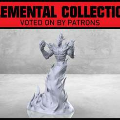 Descargar diseños 3D gratis Gran Fuego Elemental - Miniatura de mesa, M3DM