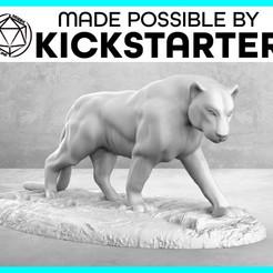 Imprimir en 3D gratis Pantera - Pose casual - Tabletop Miniatura, M3DM