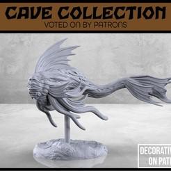 Aboleth-01.jpg Download free STL file Abolethian Cave Aberation - Tabletop Miniature • Design to 3D print, M3DM