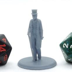 Imprimir en 3D gratis Victorian Gentleman - Miniatura de mesa, M3DM