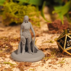 Download free 3D printer designs SciFi Elf - Tabletop Miniature, M3DM