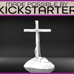 Cross-01.jpg Download free STL file Cross - Tabletop Scatter Terrain • 3D printable template, M3DM