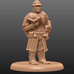 Impresiones 3D gratis Clérigo de la Muerte enano - Tabletop Miniatura, M3DM