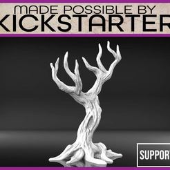 Download free STL file Dead Tree - Tabletop Scater Terrain • 3D printable template, M3DM