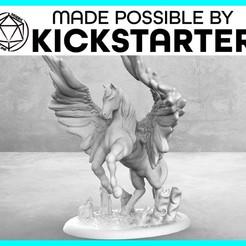Impresiones 3D gratis Pegasus - Pose de Acción - Tabletop Miniatura, M3DM