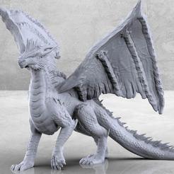 Descargar archivos STL gratis Dragón plateado - Miniatura de mesa, M3DM