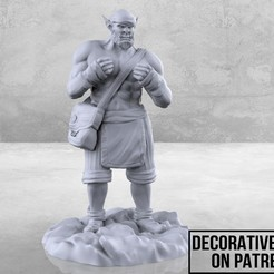 Orc_Monk_1_ad-01.jpg Download free STL file Orc Monk - Tabletop Miniature • Object to 3D print, M3DM