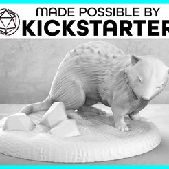 Download free 3D printing files Ferret - Action Pose - Tabletop Miniature, M3DM