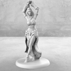 Download free 3D printer designs Dancer - Tabletop Miniature, M3DM