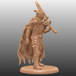 A1.png Download free STL file Haunted Knight - Tabletop Miniature • 3D printable design, M3DM