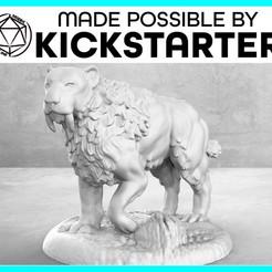 Descargar Modelos 3D para imprimir gratis Tigre de Diente de Sable - Posa casual - Miniatura de mesa, M3DM