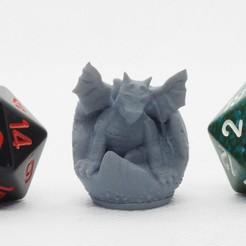Descargar diseños 3D gratis Baby Dragon - Miniatura de mesa, M3DM