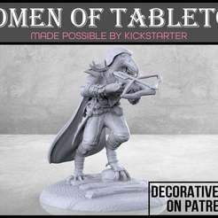 Birdfolk_Rogue_1-01.jpg Download free STL file Birdfolk Rogue - Tabletop Miniature • Design to 3D print, M3DM