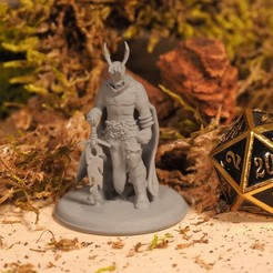 Download free 3D printing designs Demonic Warrior - Tabletop Miniature, M3DM