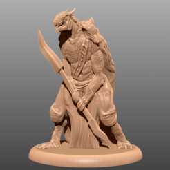 Télécharger fichier STL gratuit Dragonborn - Miniature de table, M3DM