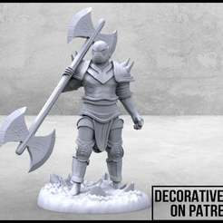 Thingiverse_Ad_1-01.jpg Download free STL file Half-Orc Barbarian Tabletop Miniature • Object to 3D print, M3DM