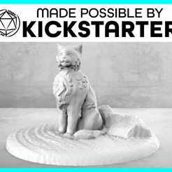 Cat_Casual_Ad_Graphic-01.jpg Download free STL file Cat - Casual Pose - Tabletop Miniature • Object to 3D print, M3DM