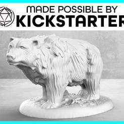Bear_Casual_Ad_Graphic-01.jpg Download free STL file Bear - Casual Pose - Tabletop Miniature • 3D printing object, M3DM