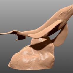 Descargar archivos STL gratis Sky Whale - Miniatura de mesa, M3DM