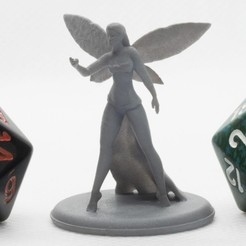 Download free 3D printer designs Fey Goddess - Tabletop Miniature, M3DM