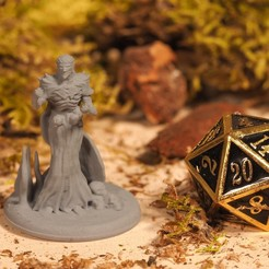 Download STL Dark Sorcerer - Tabletop Miniature, M3DM