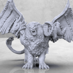 Download free STL files Chimera - Tabletop Miniature, M3DM