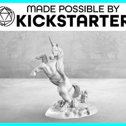 Descargar archivos STL gratis Unicorn - Action Pose - Tabletop Miniatura, M3DM