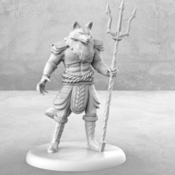 Fox_Samurai_1.jpg Download free STL file Fox Samurai - Tabletop Miniature • 3D print design, M3DM