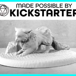 Cat_Action_Ad_Graphic-01.jpg Download free STL file Cat - Action Pose - Tabletop Miniature • Model to 3D print, M3DM