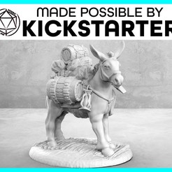 Descargar STL gratis Pack Mule - Pose casual - Tabletop Miniatura, M3DM