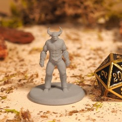 Free STL file Minotaur - Tabletop Miniature, M3DM
