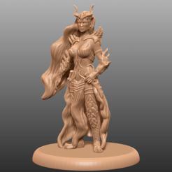 Impresiones 3D gratis Dark Elf Rogue - Miniatura de mesa, M3DM