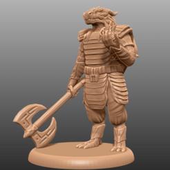 Imprimir en 3D gratis Dragonborn Eldritch Knight - Miniatura de mesa, M3DM