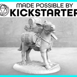 Impresiones 3D gratis Pack Mule - Pose de Acción - Tabletop Miniatura, M3DM