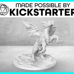 Descargar modelo 3D gratis Dragonling - Pose de acción - Miniatura de mesa, M3DM