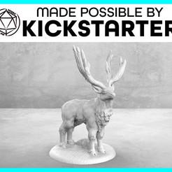 Stag_Casual_Ad_Graphic-01.jpg Download free STL file Stag - Casual Pose - Tabletop Miniature • 3D printable object, M3DM
