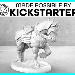 Imprimir en 3D gratis War Horse - Pose de Acción - Tabletop Miniatura, M3DM