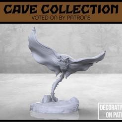 Download free STL file Manta Cave Bat - Version 1 - Tabletop Miniature, M3DM