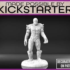 Swamp_Monster_1-01.jpg Download free STL file Swamp Monster - Tabletop Miniature • 3D printer design, M3DM