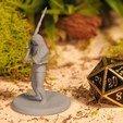 Download free 3D printer files Greatsword Warrior - Tabletop Miniature, M3DM
