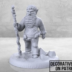 Forse_Gnome_1-01.jpg Download free STL file Forest Gnome - Tabletop Miniature • 3D printer template, M3DM