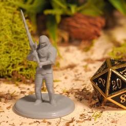 Descargar STL gratis Greatsword Warrior - Miniatura de sobremesa, M3DM