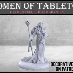 Elven_Sorceress_1-01.jpg Download free STL file Elven Sorceress - Tabletop Miniature • 3D printer model, M3DM
