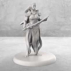 Descargar Modelos 3D para imprimir gratis Elven Blademaster - Miniatura de mesa, M3DM